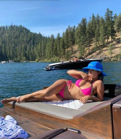 Kourtney Kardashian In Portofino