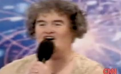 Susan Boyle Appears, Sings on Larry King Live