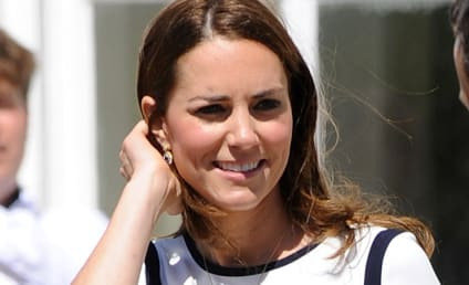 Kate Middleton Stuns in Nautical-Themed Dress, Lobbies For America's Cup, is NOT Pregnant