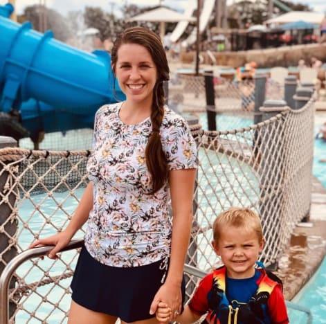 Jill Duggar at a Waterpark