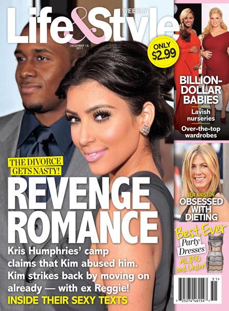 Kim Kardashian and Reggie Bush Tabloid Cover