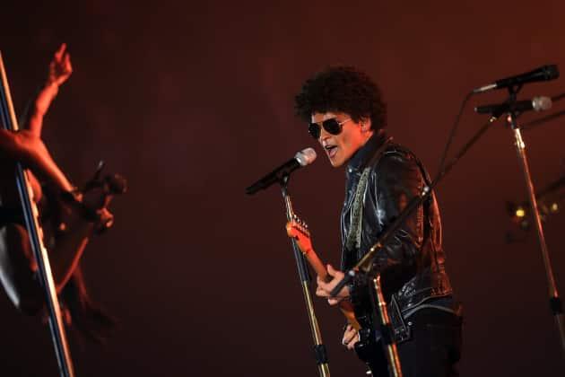 Bruno Mars at the EMAs