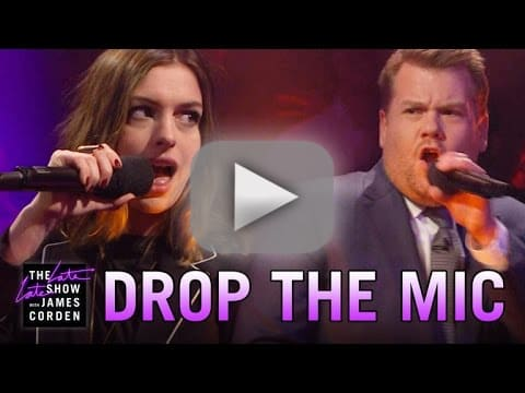 James Corden Drops The Mic On Anne Hathaway s Awful British Accent e77f4529c