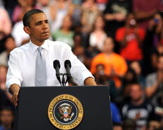 Barack Obama at the Podium