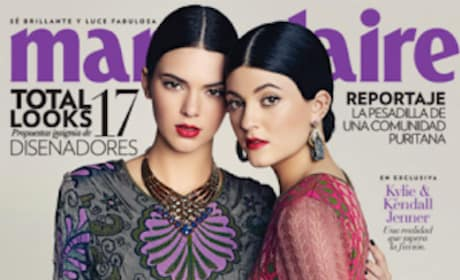 Kendall and Kylie Jenner on Marie Claire