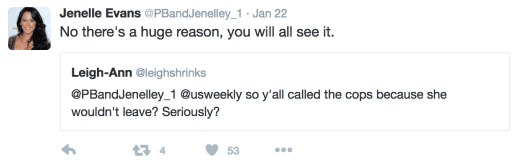 Jenelle Evans Tweets About Police Visit To Her Home