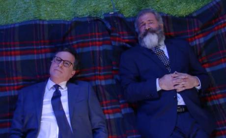 Stephen Colbert and Mel Gibson