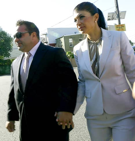 Teresa Giudice and Joe Giudice Hold Hands