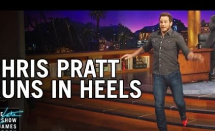 Chris Pratt Tries to Run in High Heels: Watch!