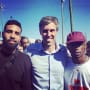 Arian Foster, Beto O'Rourke, and Travis Scott
