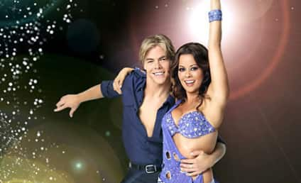 Brooke Burke is Clothed, Promoting Dancing with the Stars