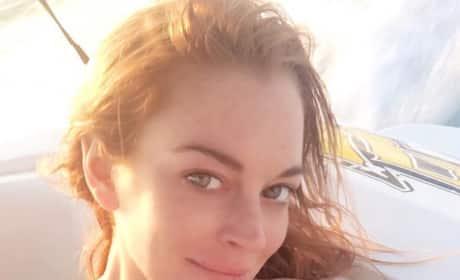 Lindsay Lohan Bathing Suit Selfie
