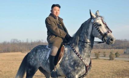 Kim Jong Un: On a Horse! Firing a Gun! Trying to Look Hard!