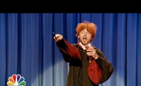 """Drunk Ron Weasley """"Sings"""" Happy Birthday to Harry Potter"""