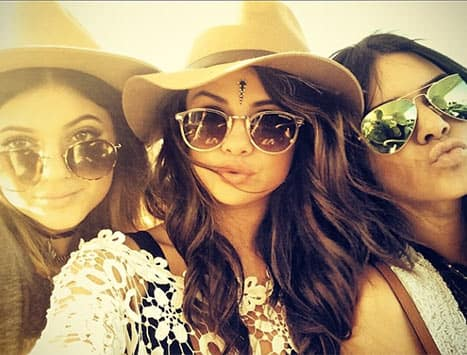 Selena, Jenners at Coachella