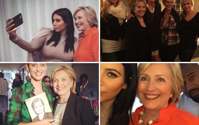 Hillary clinton and kim kardashian selfie