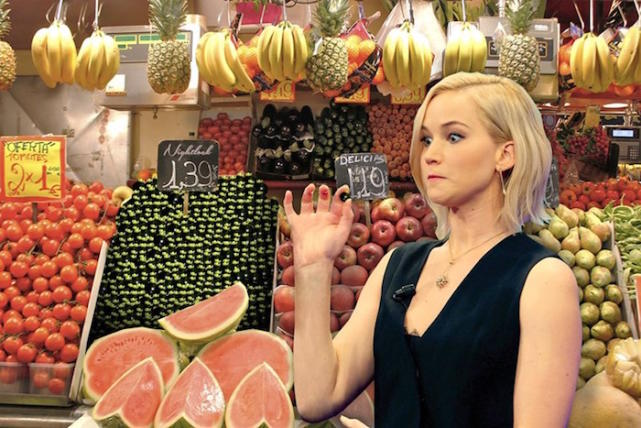 Jennifer Lawrence: Berry Frightened
