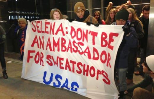 Selena signs