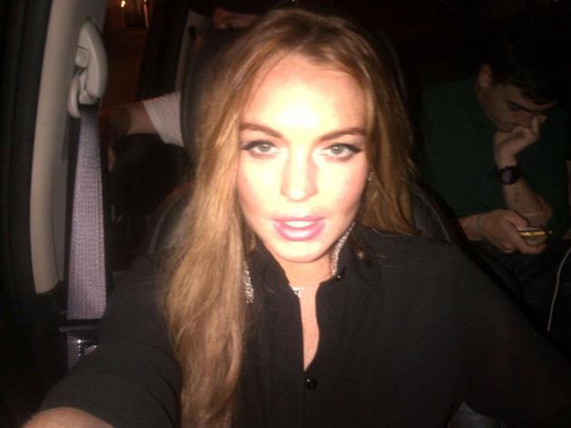 Lindsay Lohan Twit Pic