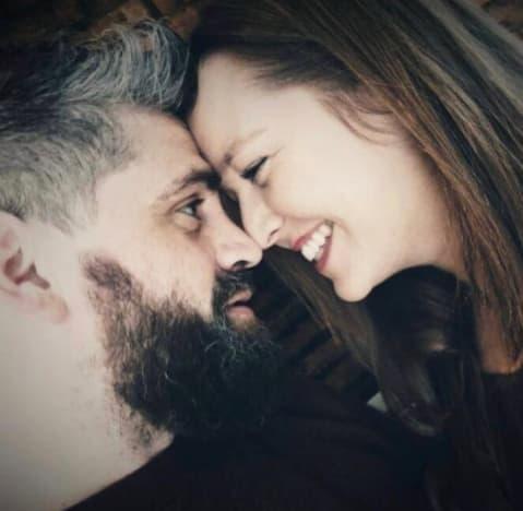 Jon Walters and Rachel Bear