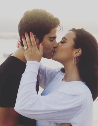 Demi Lovato Engagement Photo