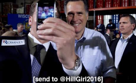 Mitt Romney and Hillary Clinton Texting