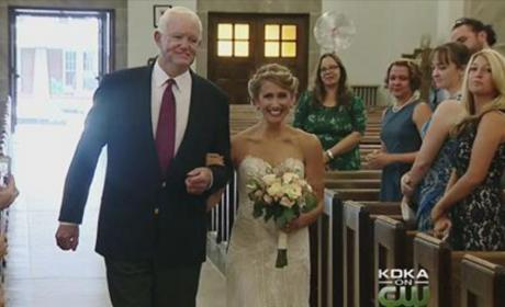 Bride Walked Down the Aisle By Man Who Received Her Father's Heart