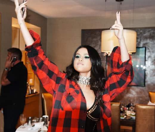 Selena Gomez Throws It Down