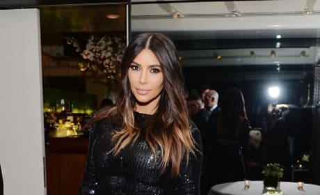 Kim Kardashian at a Private Dinner