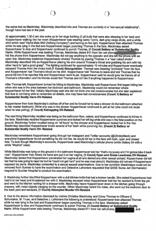 War Machine Police Report: Page 3