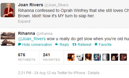 "Joan Rivers Wants to Slap ""Idiot"" Rihanna"
