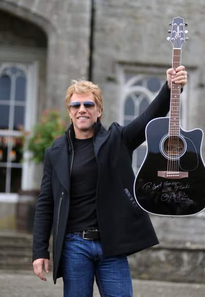Jon Bon Jovi with a Guitar