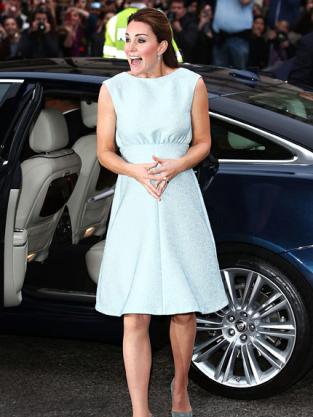 Kate Middleton Blue Dress Photo