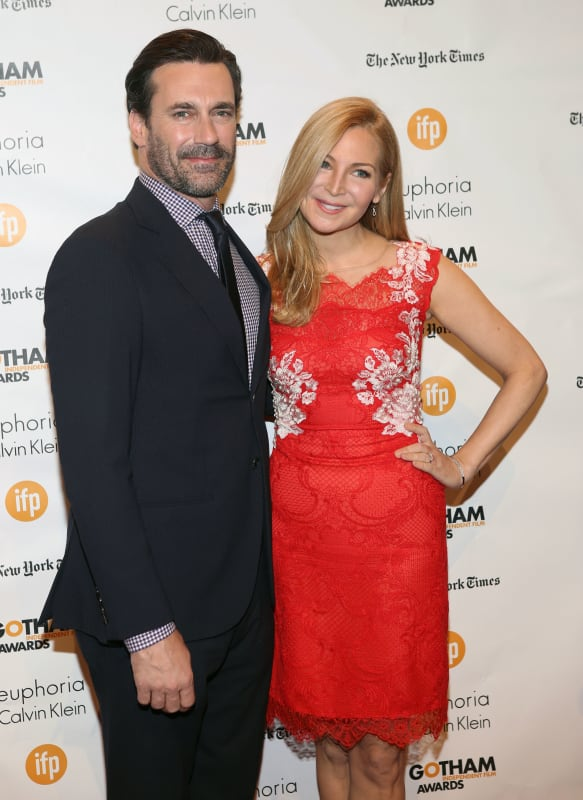 Jon Hamm and Jennifer Westfedlt