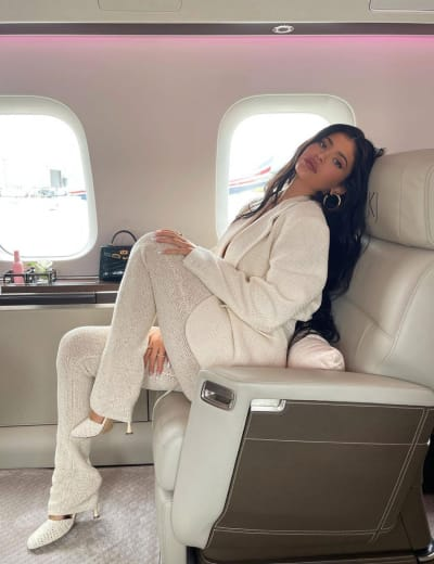 Kylie on Her Private Jet