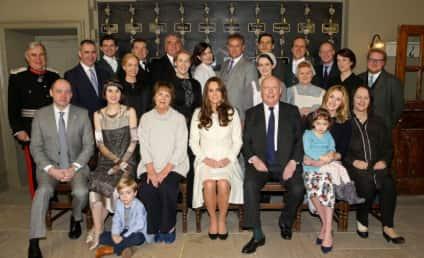 Kate Middleton Visits Downton Abbey Set!
