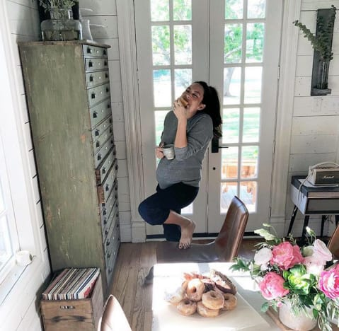 Joanna Gaines, 40th Birthday Baby Bump