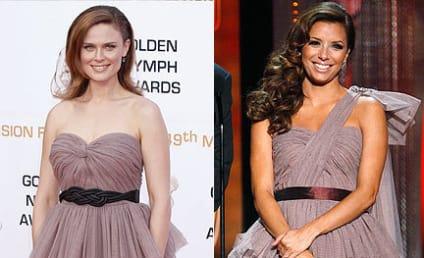 Fashion Face-Off: Emily Deschanel vs. Eva Longoria