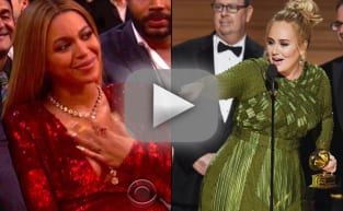 Beyonce Reacts to Adele Acceptance Speech