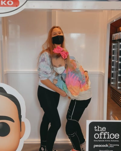 JoJo Siwa and Girlfriend at NBCUniversal