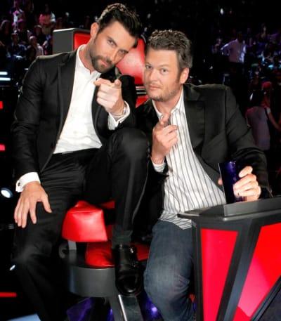 Adam Levine and Blake Shelton Pic