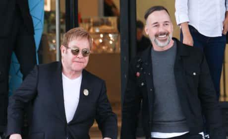 Elton John and David Furnish: Christmas Shopping at Barneys New York