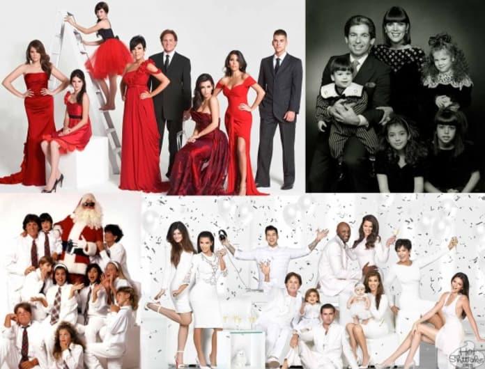kardashian christmas cards see them all the hollywood gossip - Kardashians Christmas Photos