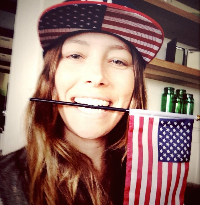 Jessica Biel Loves America!