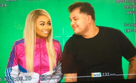 Rob Kardashian Stares at Blac Chyna