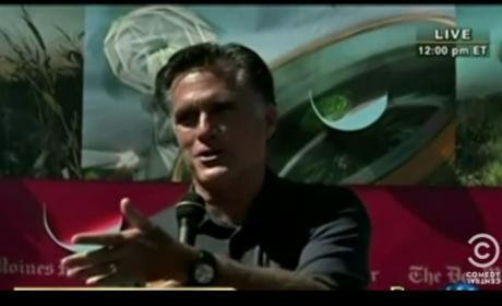 Stephen Colbert Primary Ad Attacks Mitt Romney