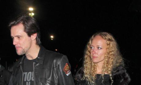 Jim Carrey and Anastasia Vitkina