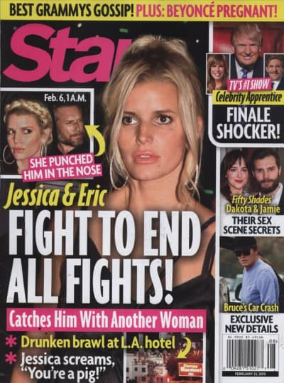 Jessica Simpson-Eric Johnson Fight Photo