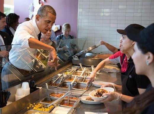 Barack Obama at Chipotle