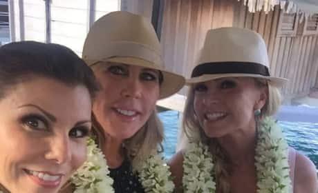 Vicki Gunvalson, Tamra Judge and Heather Dubrow in Tahiti